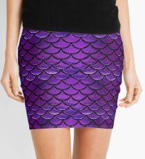 Purple & Blue Mermaid Scales Mini Skirt