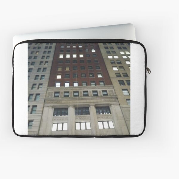 Street, City, Buildings, Photo, Day, Trees, New York, Manhattan, Brooklyn Laptop Sleeve