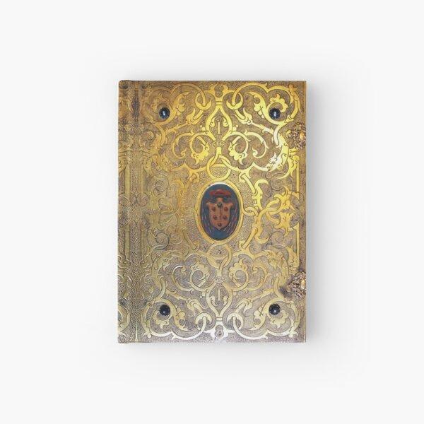 Golden Swirls Book Hardcover Journal