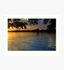 Manning River Sundown #2 Art Print