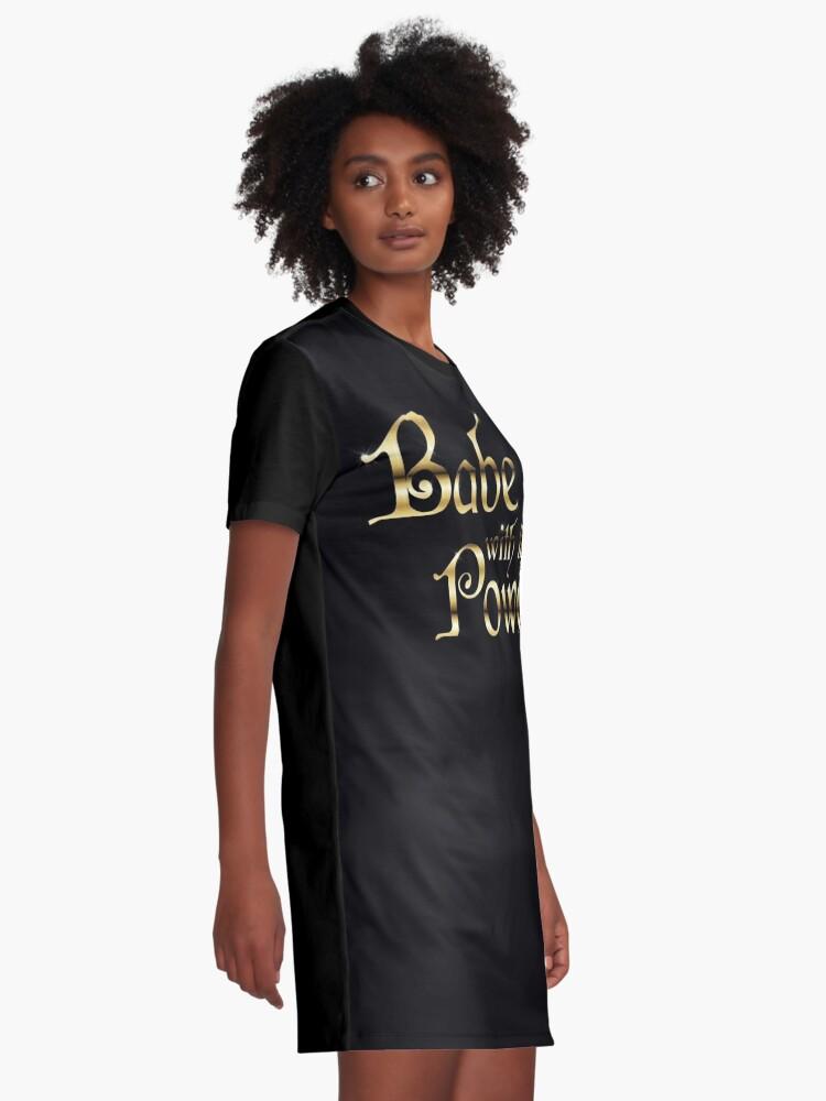 Alternative Ansicht von Labyrinth Babe mit der Macht (schwarz bg) T-Shirt Kleid