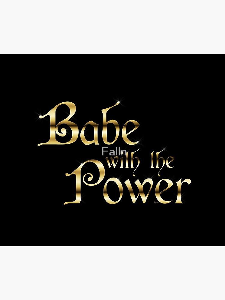 Labyrinth Babe mit der Macht (schwarz bg) von Falln