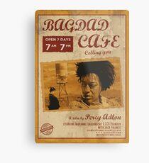 Bagdad cafe , poster alternativo, ruta 66, calling you, german film,póster de pelicula, cartel retro, ilustración Lienzo metálico
