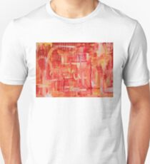 Red and Orange Abstraction Unisex T-Shirt