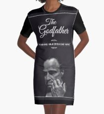 The Godfather - alternative poster, Marlon Brando, Francis Ford Coppola, Al Pacino, Mario Puzo, movie poster, film poster, retro poster Vestido camiseta