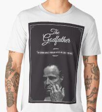 The Godfather - alternative poster, Marlon Brando, Francis Ford Coppola, Al Pacino, Mario Puzo, movie poster, film poster, retro poster Camiseta premium para hombre