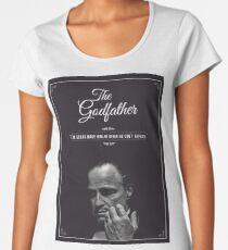 The Godfather - alternative poster, Marlon Brando, Francis Ford Coppola, Al Pacino, Mario Puzo, movie poster, film poster, retro poster Camiseta premium para mujer