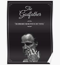 The Godfather - alternative poster, Marlon Brando, Francis Ford Coppola, Al Pacino, Mario Puzo, movie poster, film poster, retro poster Póster
