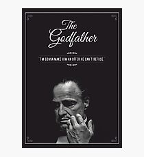 The Godfather - alternative poster, Marlon Brando, Francis Ford Coppola, Al Pacino, Mario Puzo, movie poster, film poster, retro poster Lámina fotográfica