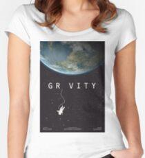 Gravity, alternative poster, printable, Sandra Bullock, George Clooney, Alfonso Cuaron, nasa astronaut, movie poster, film poster Camiseta entallada de cuello redondo