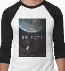 Gravity, alternative poster, printable, Sandra Bullock, George Clooney, Alfonso Cuaron, nasa astronaut, movie poster, film poster Camiseta ¾ bicolor para hombre