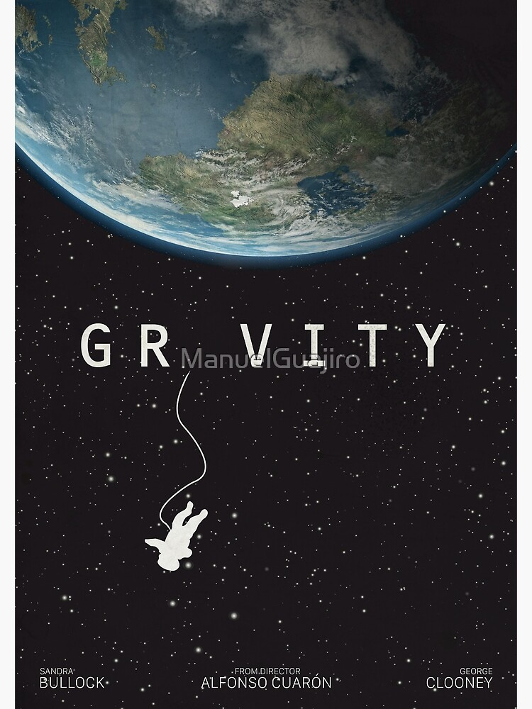 picture about Printable Movie Poster identified as Gravity, possibility poster, printable, Sandra Bullock, George Clooney, Alfonso Cuaron, nasa astronaut, online video poster, movie poster Poster
