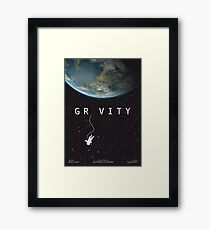 Gravity, alternative poster, printable, Sandra Bullock, George Clooney, Alfonso Cuaron, nasa astronaut, movie poster, film poster Lámina enmarcada