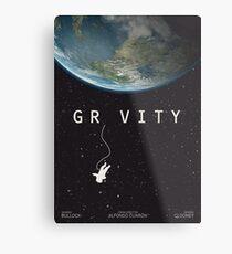 Gravity, alternative poster, printable, Sandra Bullock, George Clooney, Alfonso Cuaron, nasa astronaut, movie poster, film poster Lienzo metálico