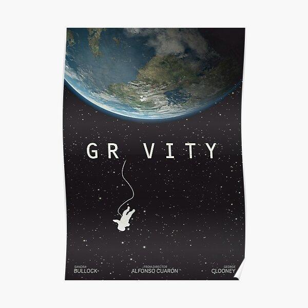 Gravity, alternative poster, printable, Sandra Bullock, George Clooney, Alfonso Cuaron, nasa astronaut, movie poster, film poster Póster