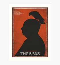 The Birds, alternative poster, printable, Alfred Hitchcock, Rod Taylor, Tippi Hedren, movie poster, retro poster, Saul Bass style Lámina artística