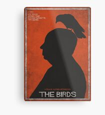 The Birds, alternative poster, printable, Alfred Hitchcock, Rod Taylor, Tippi Hedren, movie poster, retro poster, Saul Bass style Lienzo metálico