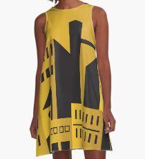 Golden city art deco A-Line Dress