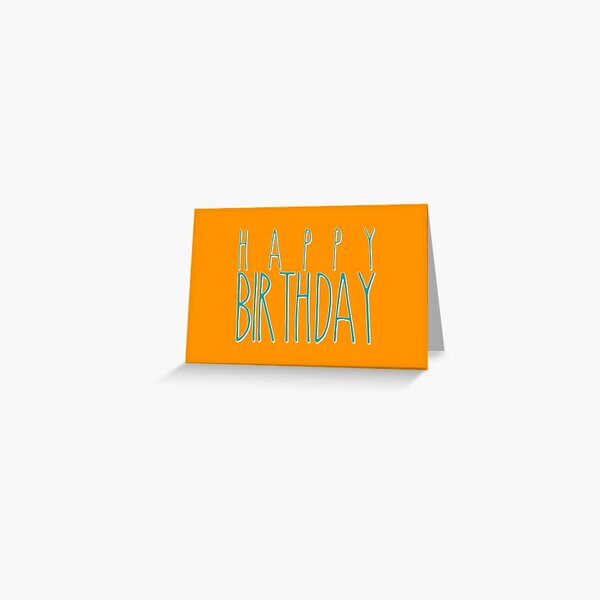 Happy Birthday Hand Lettering Typography Greeting Card