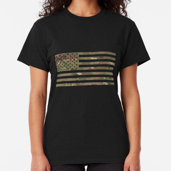 U.S. Flag: Military Camouflage Classic T-Shirt