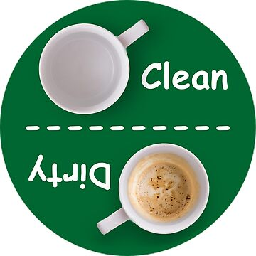 Dirty/Clean Dishwasher Label by RonMarton