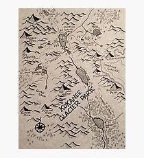 Kokanee Glacier Map Photographic Print