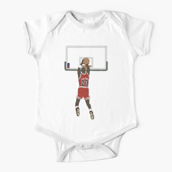Michael Jordan Game Winner Short Sleeve Baby One-Piece