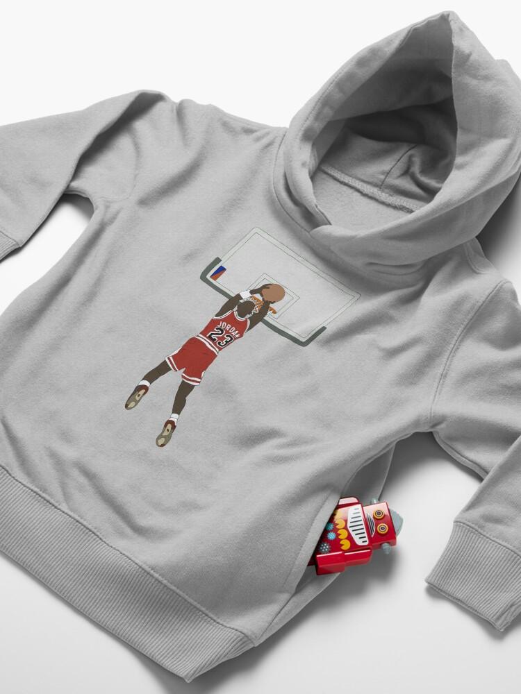 Alternate view of Michael Jordan Game Winner Toddler Pullover Hoodie