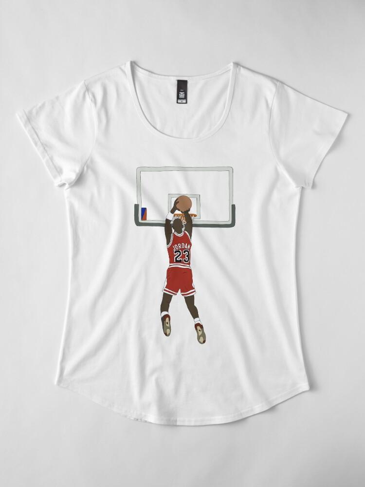 Alternate view of Michael Jordan Game Winner Premium Scoop T-Shirt