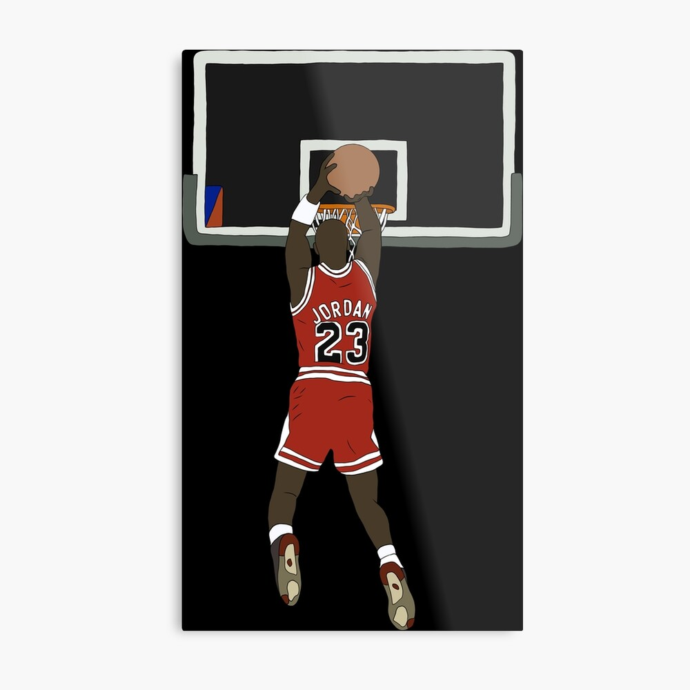 Michael Jordan Game Winner Metal Print