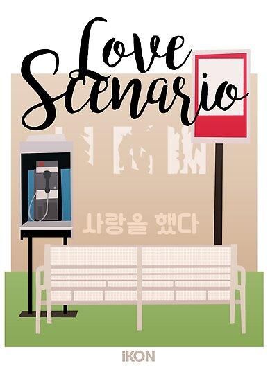 Ikon Love Scenario Mv Inspired Posters By Lojakshop Redbubble