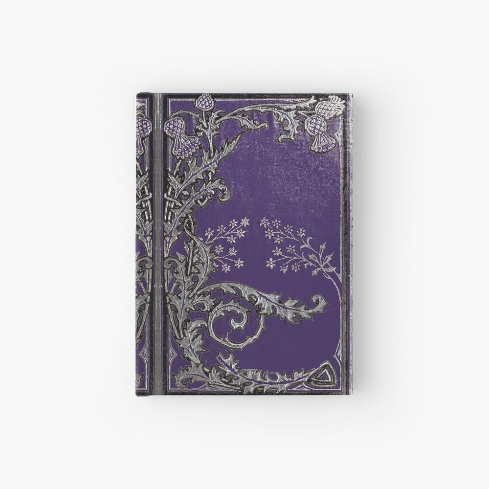Blaue und silberne Disteln Notizbuch