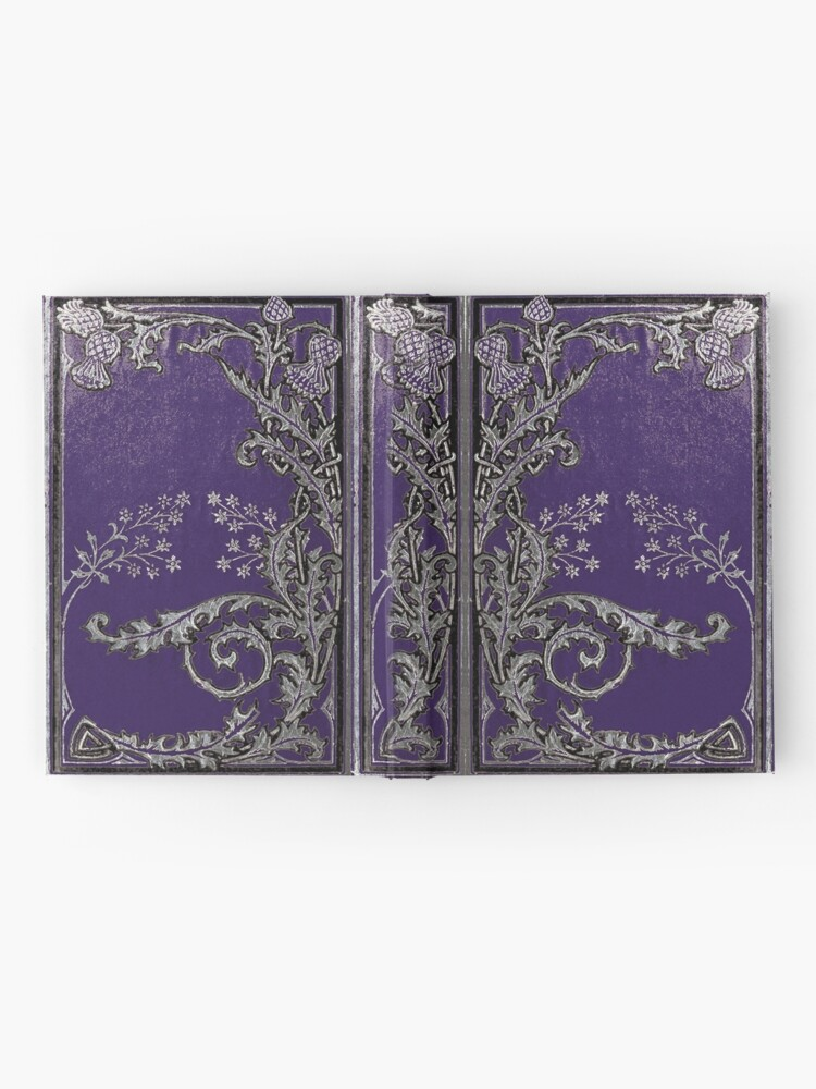 Alternative Ansicht von Blaue und silberne Disteln Notizbuch