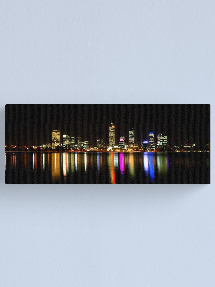 Alternate view of Perth, Western Australia, at night Canvas Print