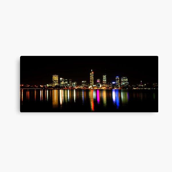 Perth, Western Australia, at night Canvas Print