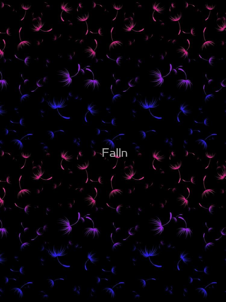 Dandelion Seeds Bisexual Pride (black background) by Falln