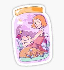 Cute Universe in a Jar Sticker