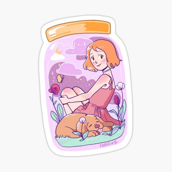 Lindo universo en un frasco Pegatina