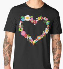 Whimsical Spring Flowers Power Garden Men's Premium T-Shirt