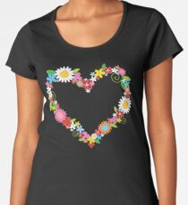 Whimsical Spring Flowers Power Garden Women's Premium T-Shirt
