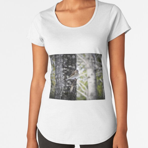 Oiseau en hiber T-shirt premium échancré