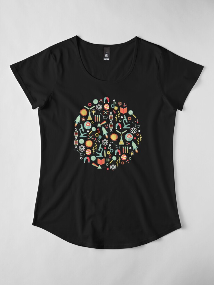 Alternate view of Science Studies Premium Scoop T-Shirt