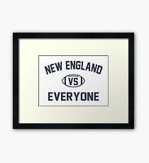 New England Vs Everyone Merchandise Framed Print