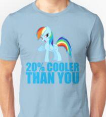 Rainbow Dash: 20% Cooler Than You Unisex T-Shirt