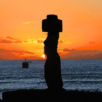 Mohai in Easter Island by dcrrld