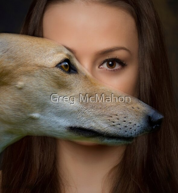 The eyes of a woman by Greg McMahon