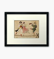 Highwire dancers Framed Print
