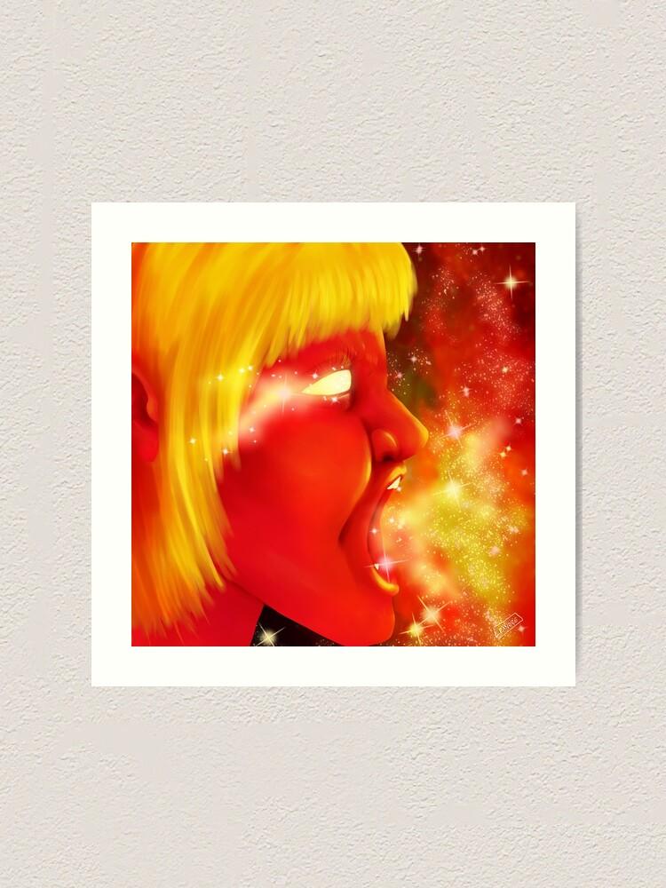 Alternate view of Screaming at the Stars Art Print