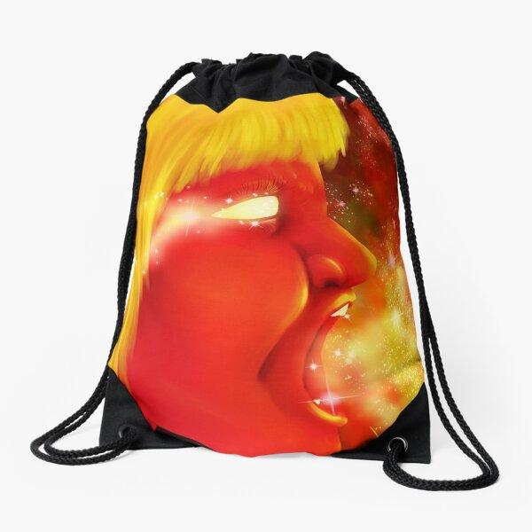 Screaming at the Stars Drawstring Bag