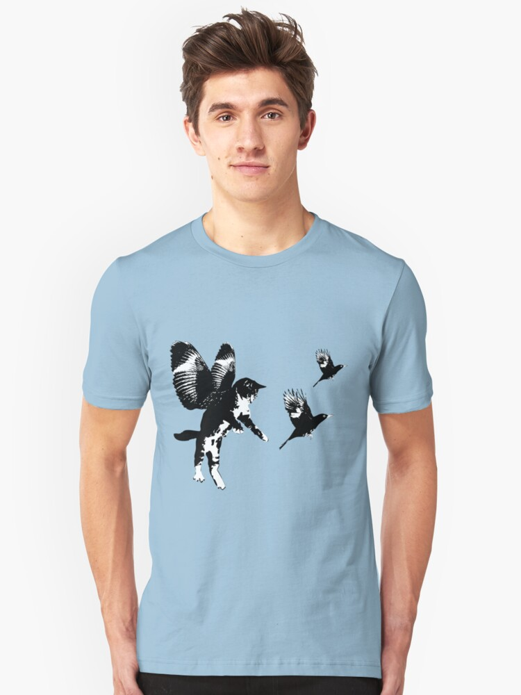 Flying Cat Unisex T-Shirt Front